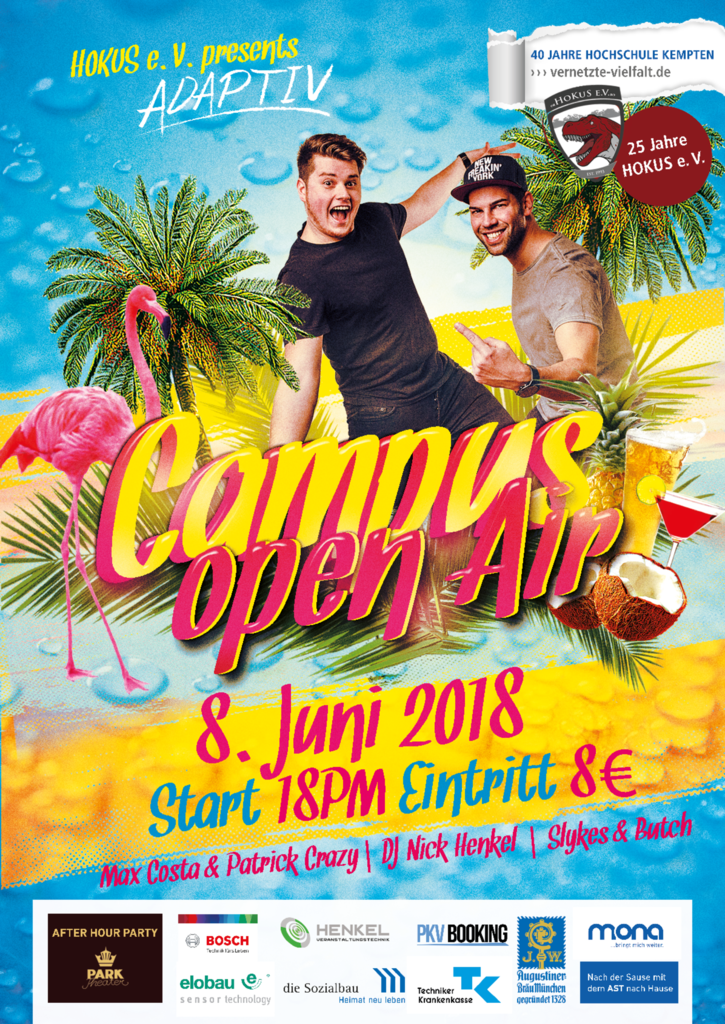 Campus Open Air 2018 Plakat